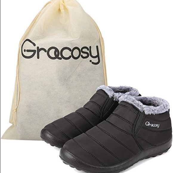 03708f2383c Gracosy Shoes - Gracosy Warm Ankle Snow Boots- Waterproof. NWOTS