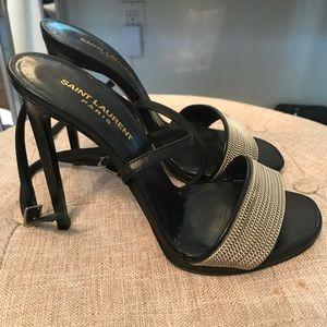 Saint Laurent Paris heels sandal size 9