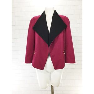 Calvin Klein Two Tone Dress Blazer Higher Back