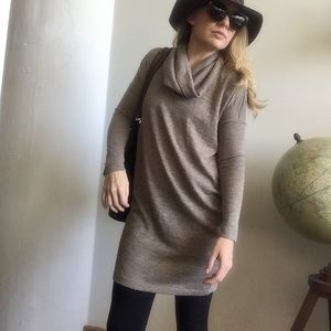 NWT Taupe Old Navy Sweater Dress w/ Cowl Neck