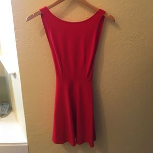 Red low back dress