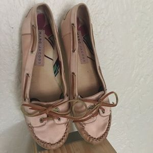 Marc by Marc Jacobs Pink Satin Boat Shoes Size 8