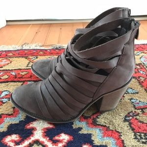 Free People Strappy Heeled Bootie