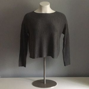 Modern Cut Eileen Fisher Gray Wool Sweater