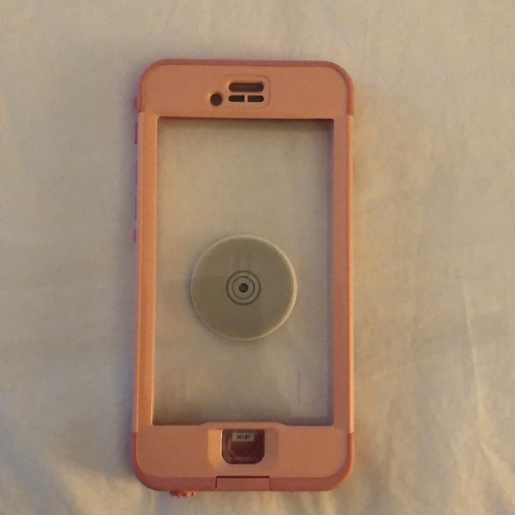 best website c5faa e01b6 IPhone 6/6s Pink Lifeproof nuud with popsocket