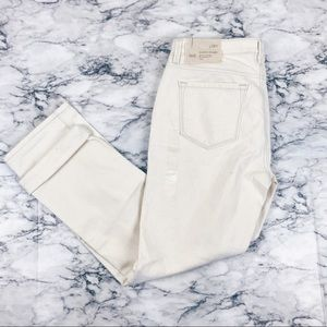 NWT Loft 29/8 white modern straight jeans