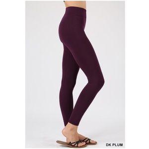 Pants - Dark Plum  Fleece Legging S/M, L/XL