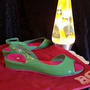 BC Footwear Women's Automatic Green Sandal