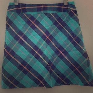 Silk tartan plaid Nicole Miller mini skirt