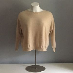 Eileen Fisher Tan Italian Cashmere Sweater