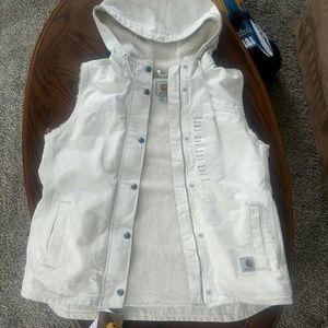 Carhartt Sherpa lined Hooded Vest