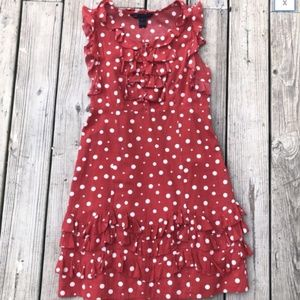 Marc by Marc Jacobs Red Ruffle Polka Dot Dress 8