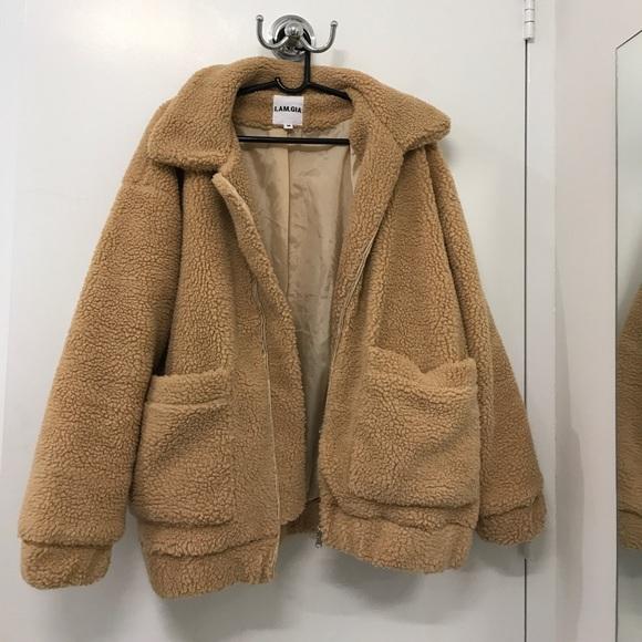 I Am Gia Jackets Amp Coats Iamgia Pixie Coat Caramel