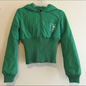 Green puffy jacket with good from Diesel