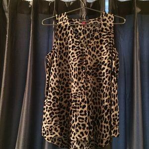 Vince Cumuto leopard print top