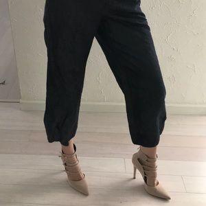 Elevenses Anthropologie jeans linen capris Sz 10