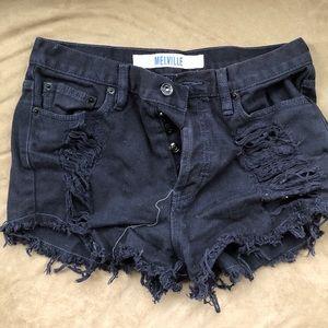 Brandy Melville shorts distressed