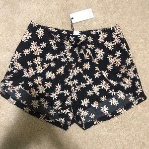 Black floral shorts!
