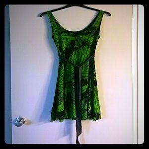 Super chic Desigual dress with a silk belt