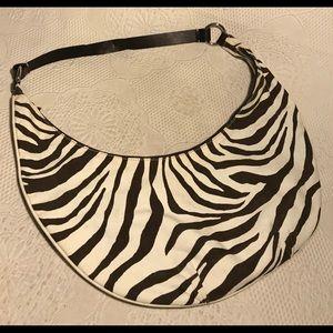 Banana Republic zebra striped hobo bag