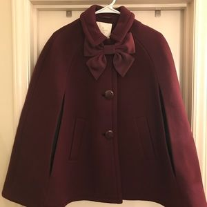 Kate Spade bow cape let