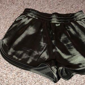 Silk athletic shorts