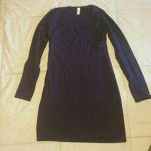 American Apparel Wrap Dress L in Eggplant