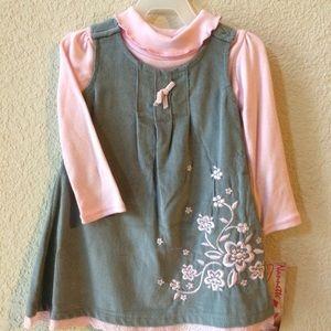 🎉HP🎉[Nannette] Grey toddler dress.
