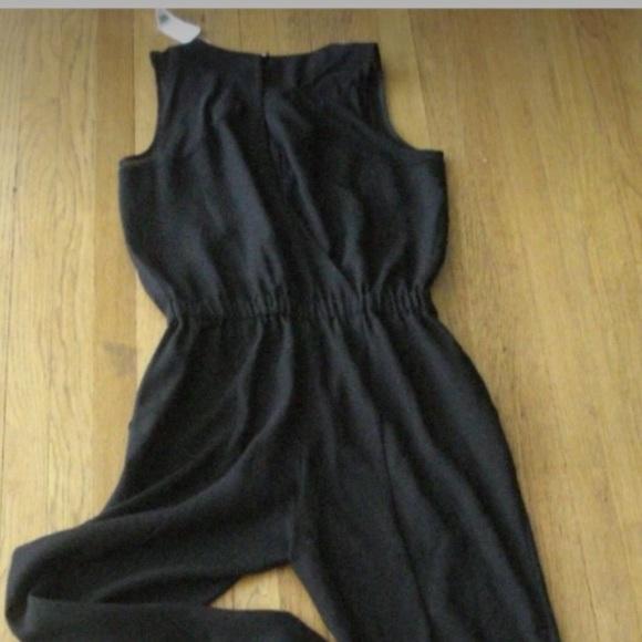 63063f82404 Banana republic black polyester jumpsuit size 6. NWT