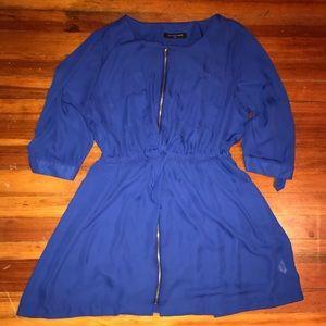 😍😍Blue zippered dress