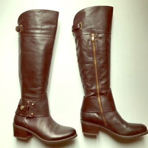 Vince Camuto Brookelee Brown Leather Boots
