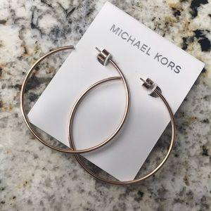 Michael Kors rose gold hoops