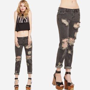 🖤 One Teaspoon Awesome Baggies Jeans in Smoke