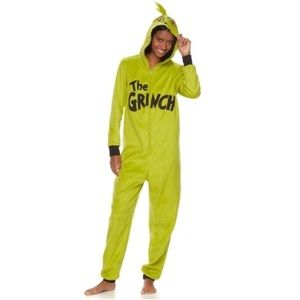 Grinch hooded one piece onesie