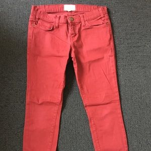 Current/Elliott Red Skinny Jeans - 27
