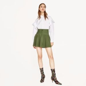 Zara green corset mini skirt