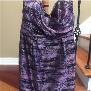 NWT Shoshanna Anthropologie Silk Strapless Dress