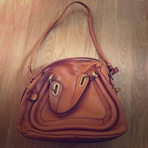 Authentic Tan Chloe Medium Paratay Handbag
