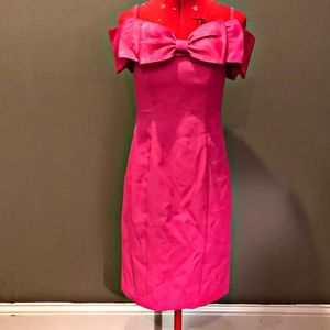 Hot Pink Oversized Bow Dress