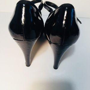 Franco Sarto Shoes - Franco Sarto Black Patent Leather & Suede Pumps