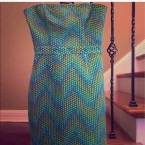 Anthropologie Beth Bowley Green geometric dress