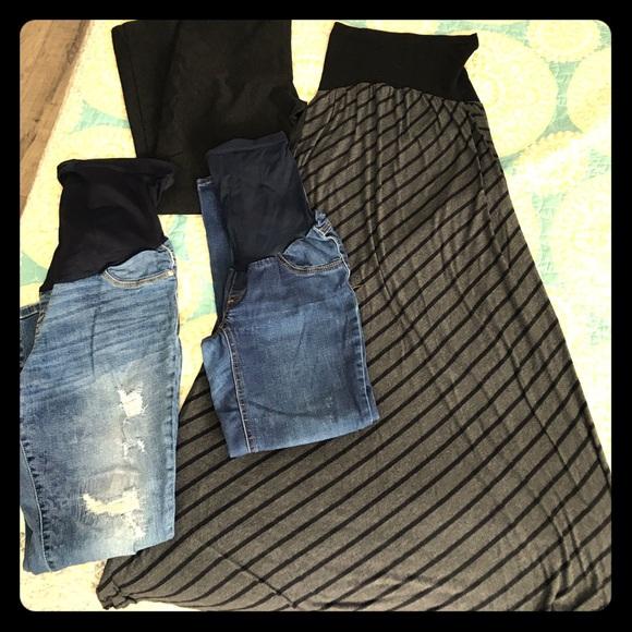 6aff70ed00a52 Jessica Simpson Jeans | Used Maternity Pants Bundle Small | Poshmark