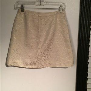 Nude/Beige/Gold Mini skirt!