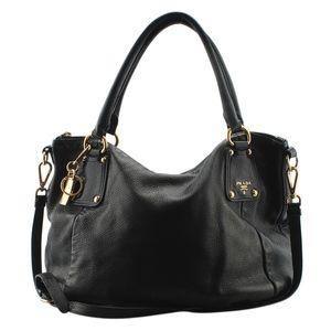 Prada Black Leather Tote  (136263)