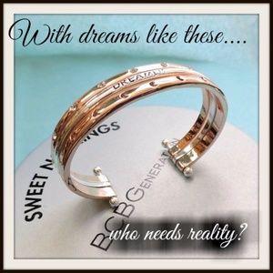 Dream BCBGeneration Goldtone & Silver Bangle