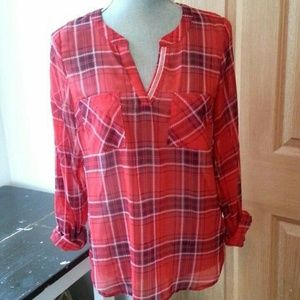 Skies Are Blue plaid blouse