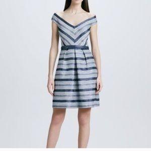 Off shoulder blue dress ~ beautiful!