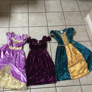 Other - 👑3 princess dresses size 3+👑