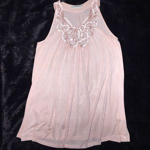 Peach sleeveless soft tunic. Size medium