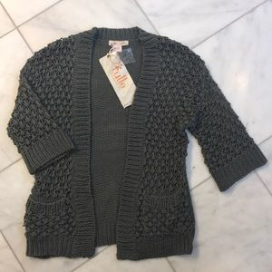 Tulle Los Angeles sweater cardigan. NWT